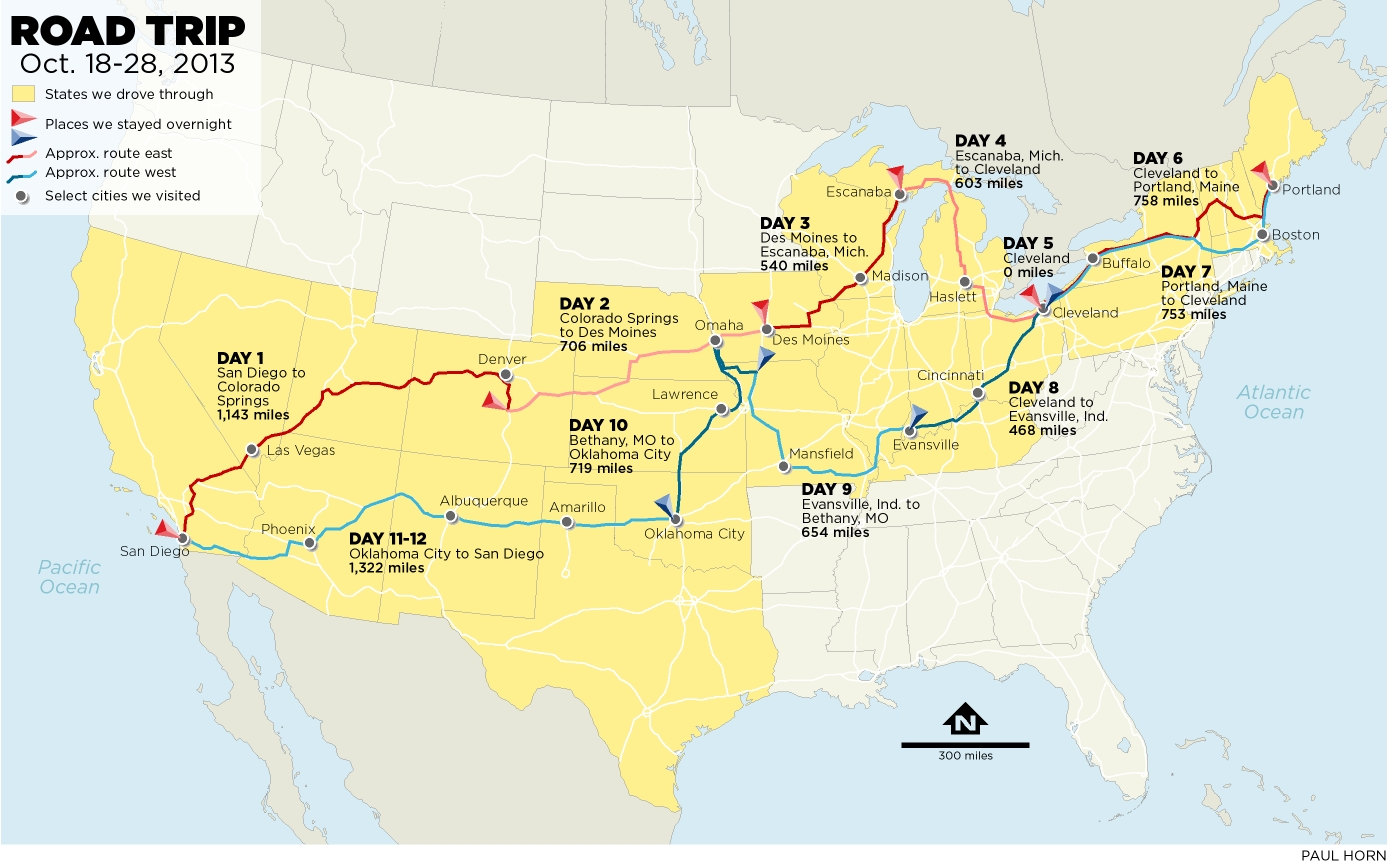 The Ultimate Road Trip Map Of Things To Do In The USA Hand This - Southwest usa highway map